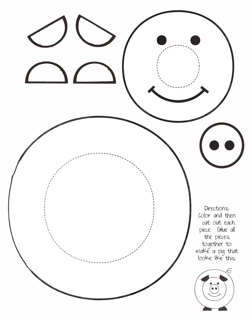 Printable Pig Craft