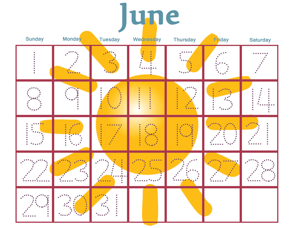 Calendar Printables For Preschool : Best images of free printable preschool calendar numbers