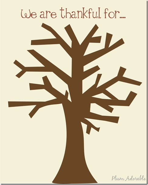 5 Images of Thankful Tree Printable