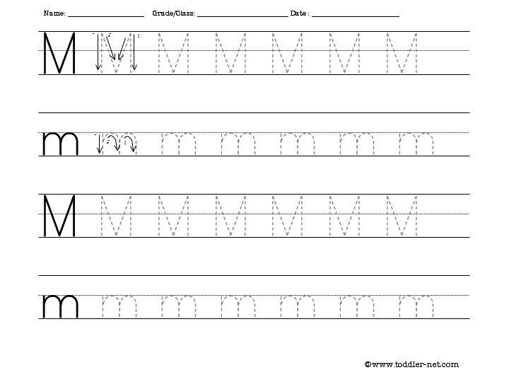 5 Images of Letter M Printable Sheet