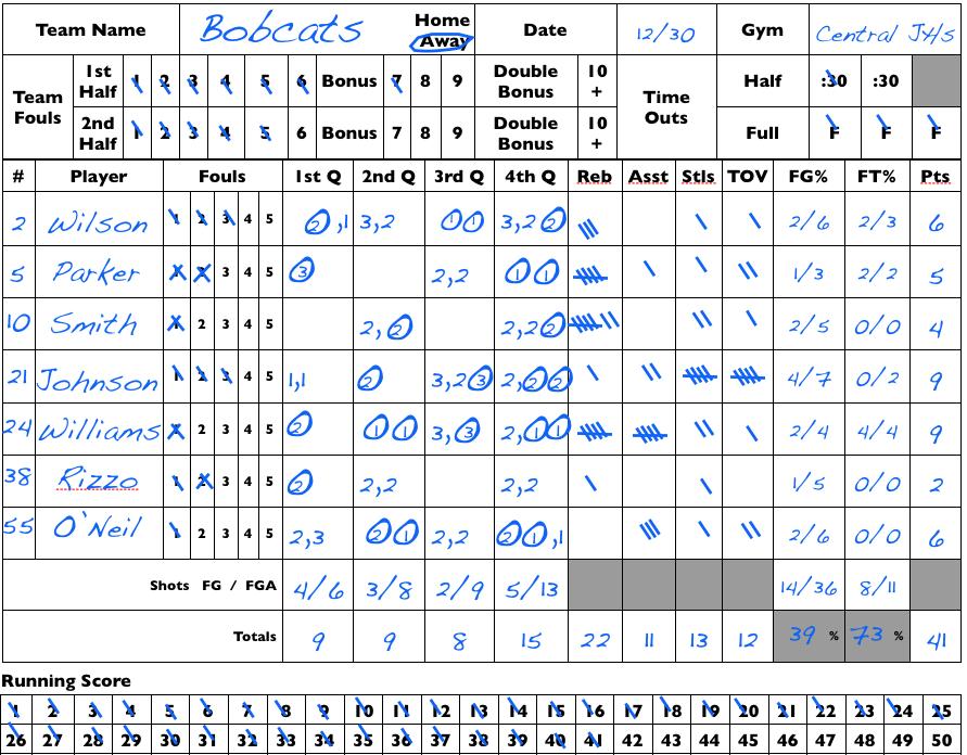 Basketball Stat Sheet Template Excel 5 best images of baseball stat ...