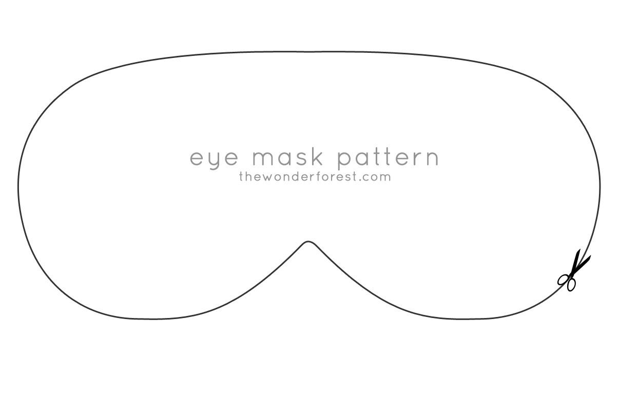5 Images of Printable Eye Mask Pattern