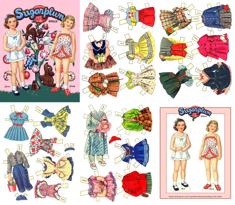 6 Images of Printable 50s Paper Dolls