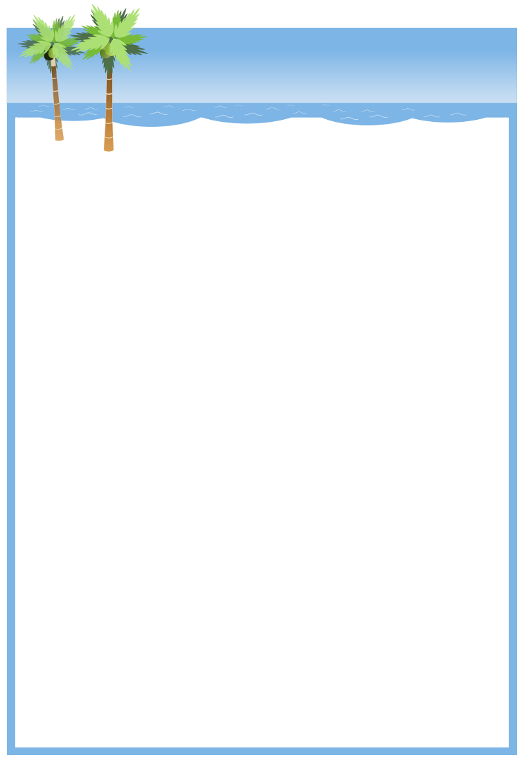 6 Images of Free Printable Beach Stationery Border