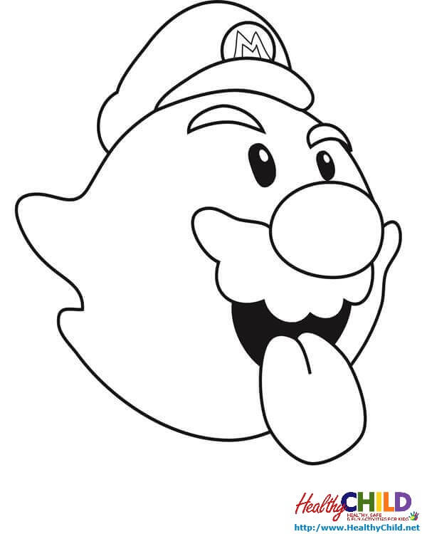 6 Best Images of King Boo Coloring Pages Printable - Mario ...