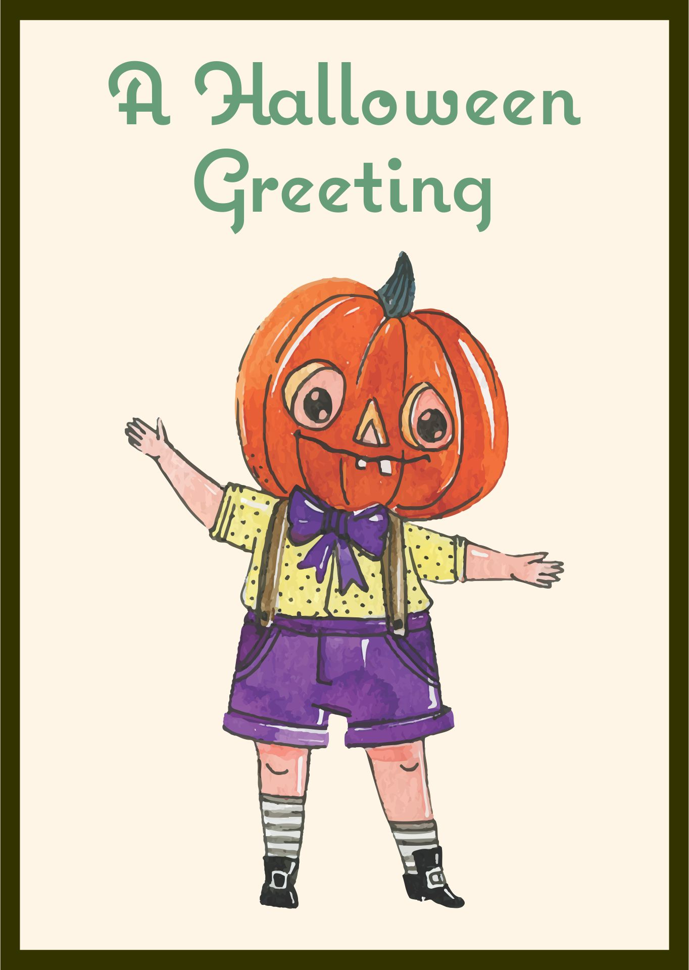 Vintage Whitney Halloween Postcard Girl Pumpkin