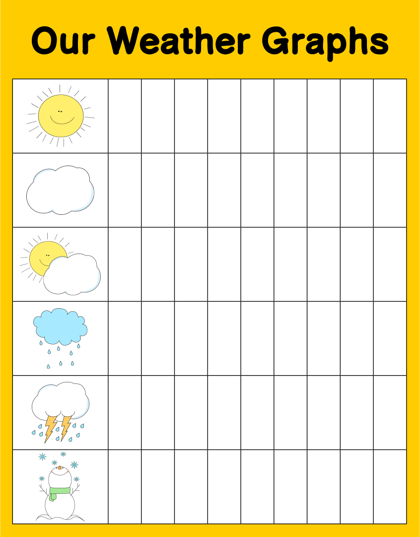Graphing printables for kindergarten