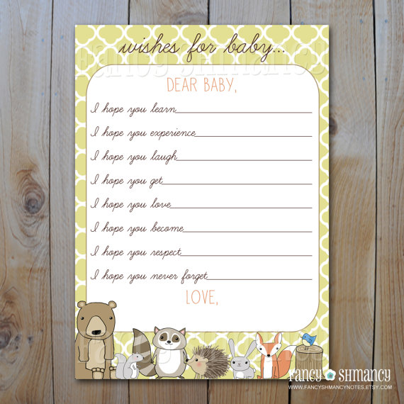 6 Images of Free Printable Woodland Forest Animal Baby Shower