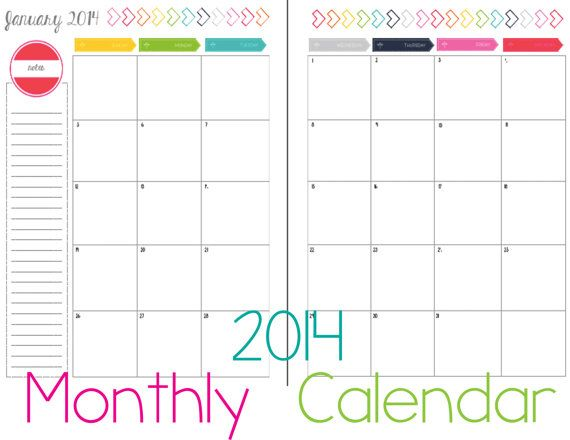 2 month calendar template 2014 8 best images of 2 page monthly calendar printable 2016