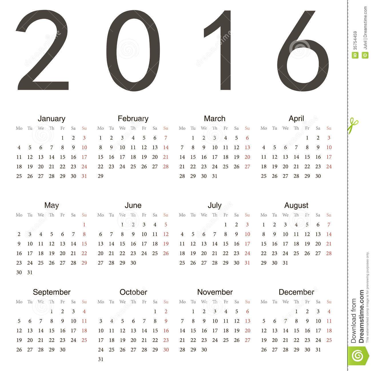 2016 Calendar-Year Week