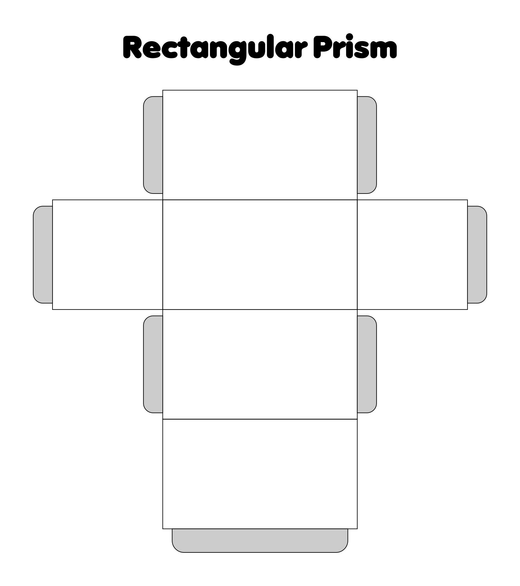 3D Rectangular Prism Cut Out