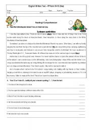 Worksheet Free 8th Grade Reading Comprehension Worksheets 9 best images of printable 8th grade comprehension worksheets reading worksheets