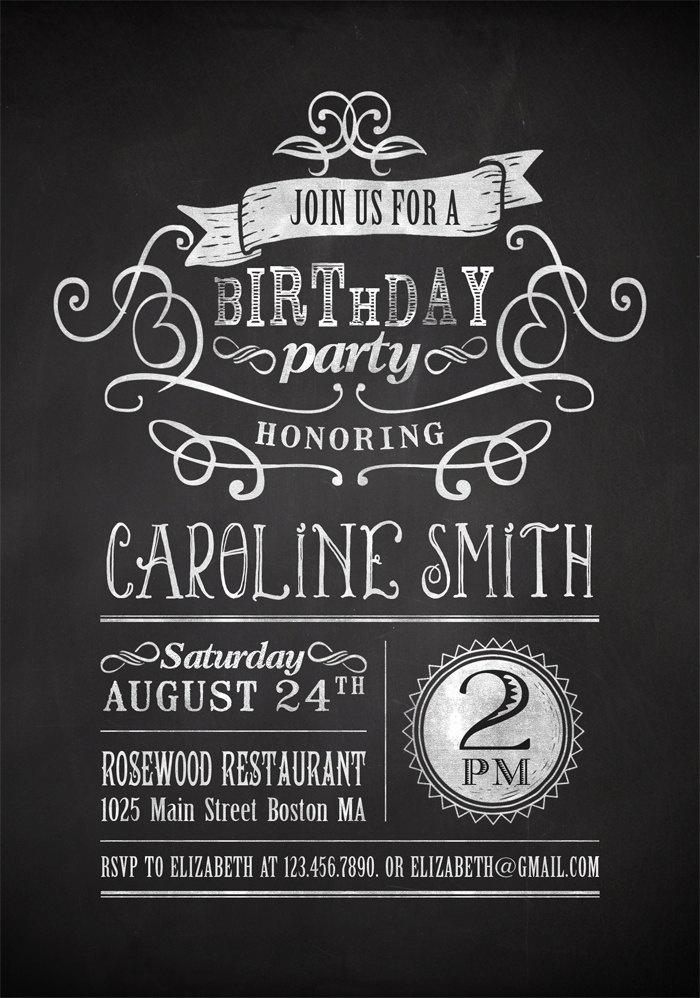 Adult Birthday Party Invitations Printable Free