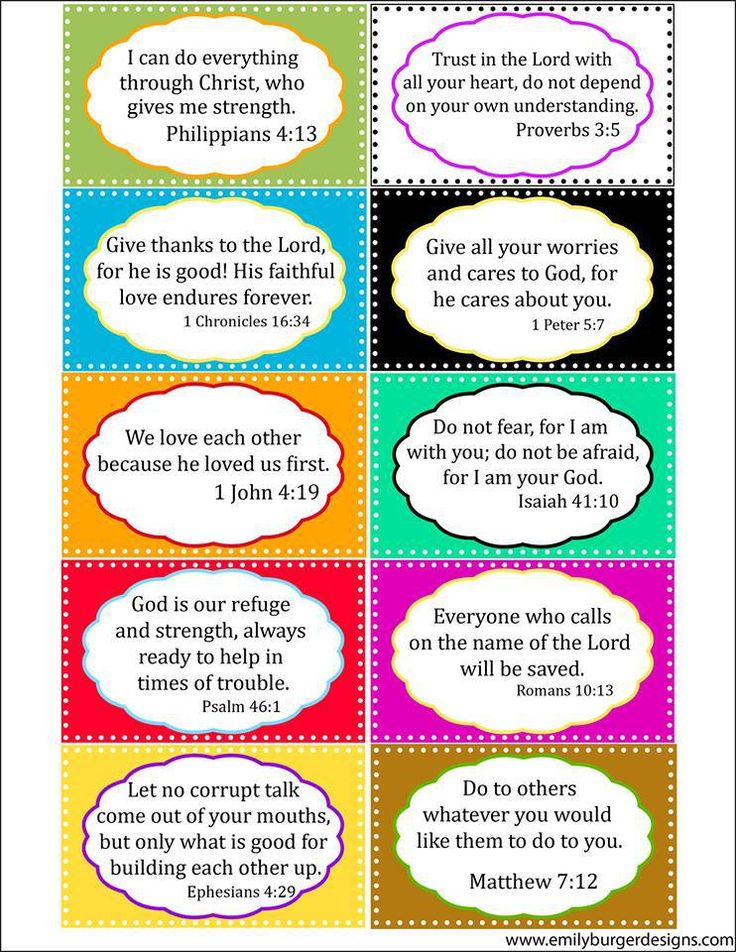7 Images of Daily Bible Verses Printable