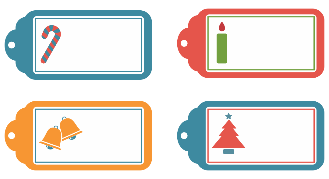 7 Images of Blank Printable Christmas Tags