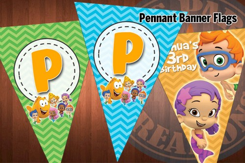 Bubble Guppies Birthday Banner Template