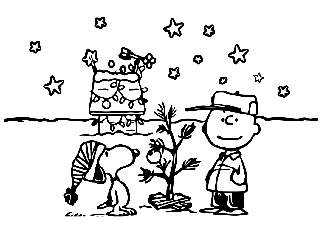7 Images of Charlie Brown Christmas Printable Coloring Cards Foldable