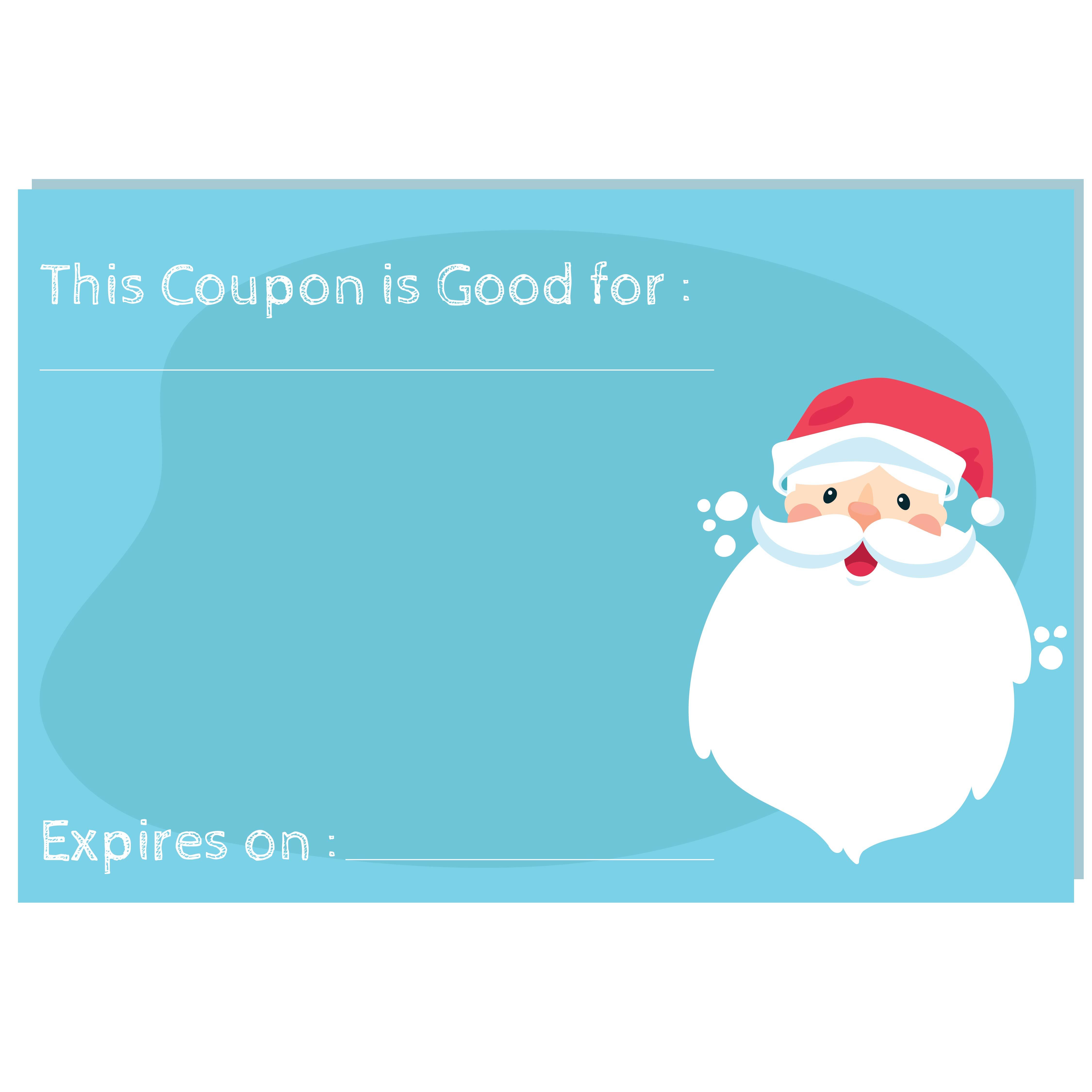 Christmas Coupon Templates Printable
