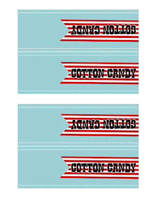 9 Images of Cotton Candy Bag Label Printable