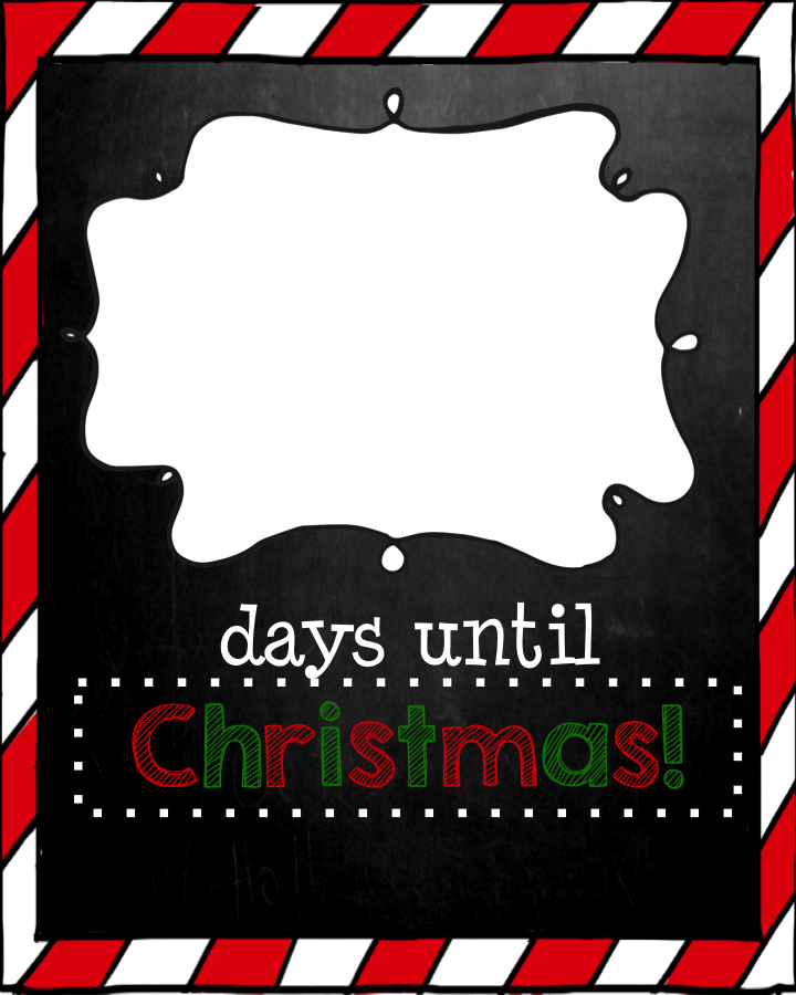 4 Images of Days Until Christmas Printable
