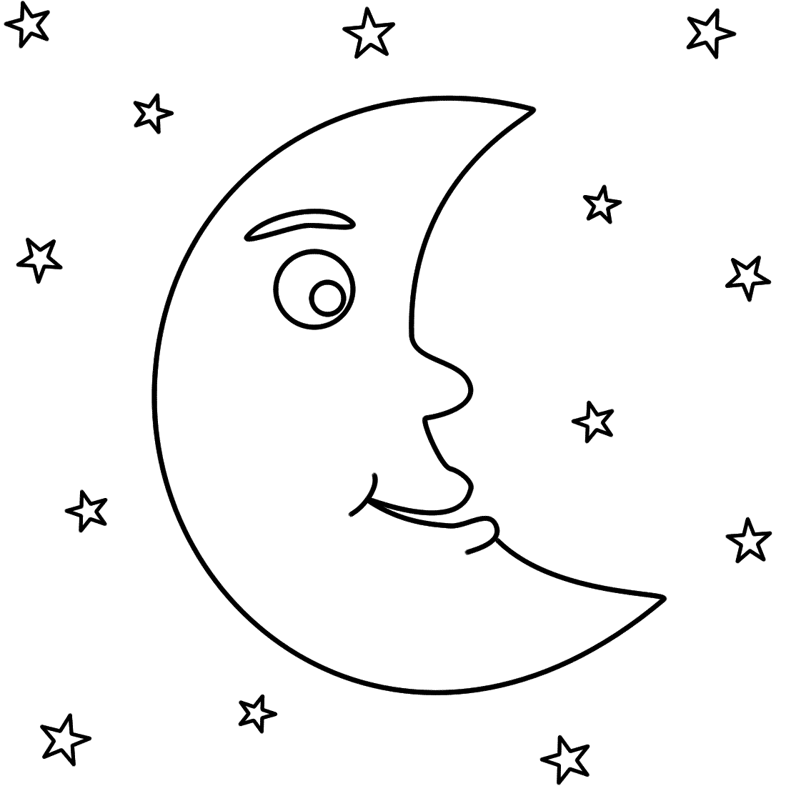4 Images of Half Moon And Stars Printable