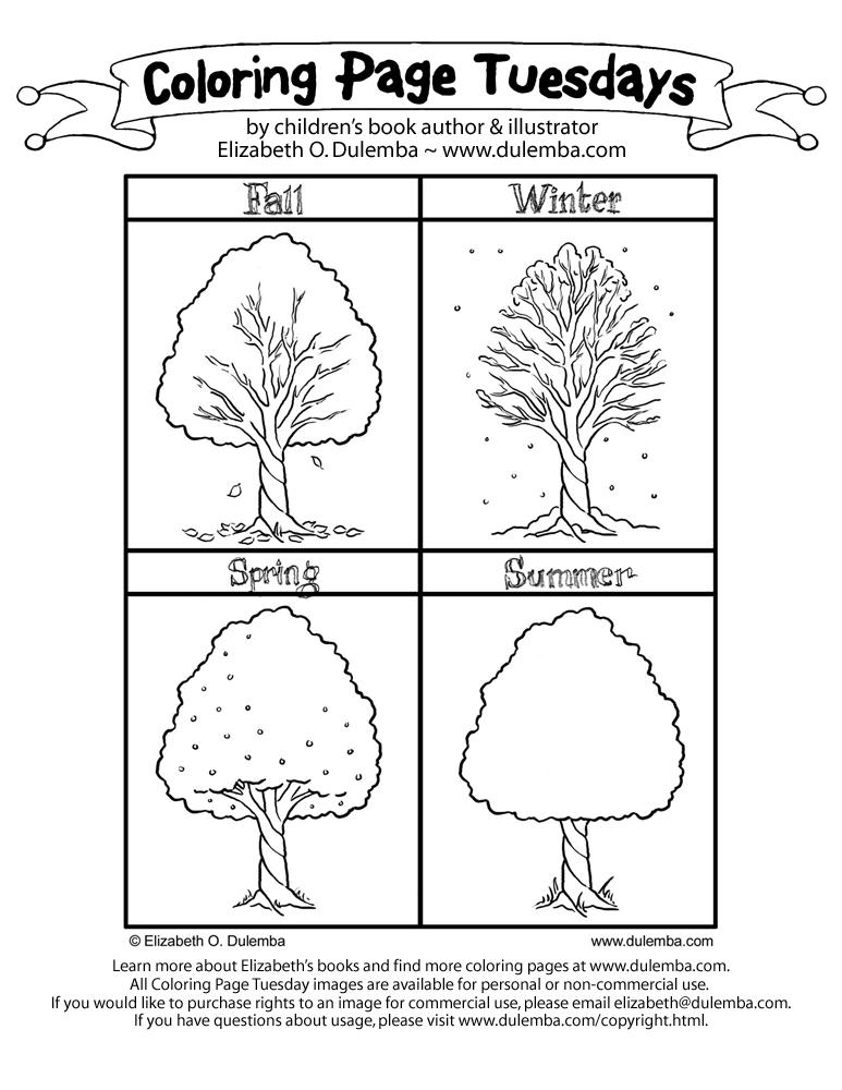 4 Images of Seasons Preschool Printables