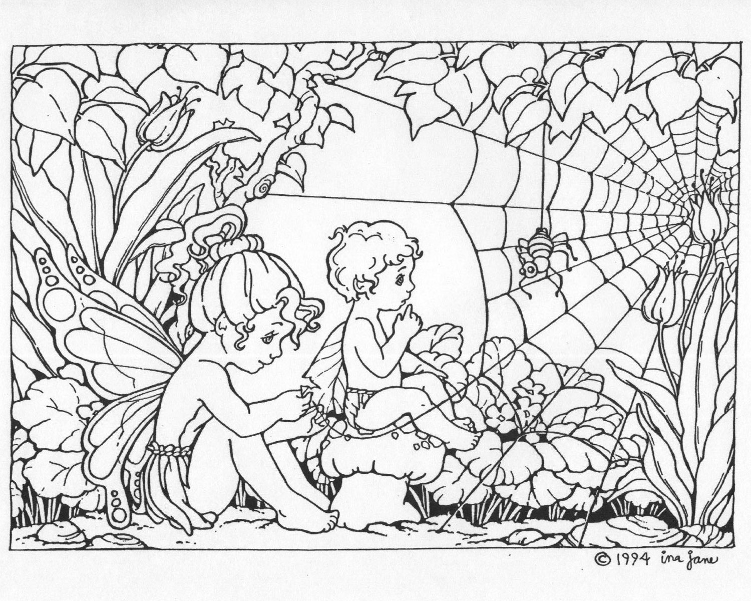 5 Images of Printable Fairy Coloring Pages For Adults