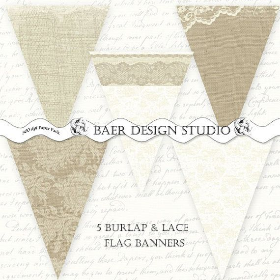 Free Baby Shower Banner Burlap and Lace