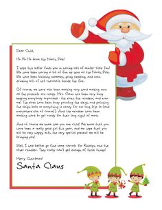 6 Images of Printable Letter From Santa Gift