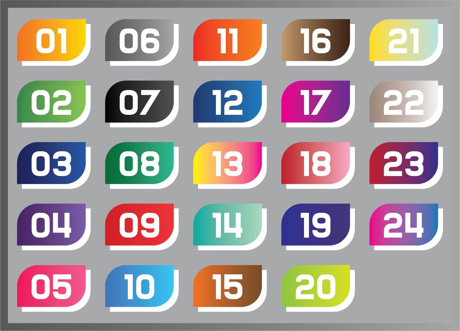 Printable Advent Calendar Numbers