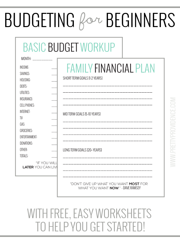 Free Printable Basic Budget Worksheet
