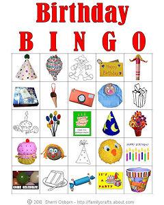 6 Images of Printable Birthday Bingo Cards