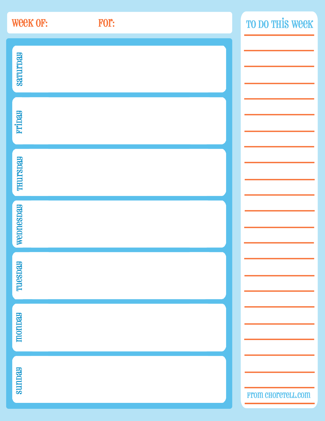 5 Images of Free Printable Weekly Calendar Sheets
