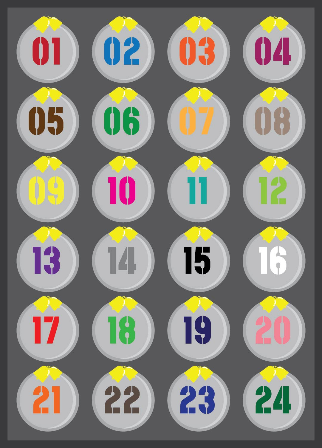 9 Images of Printable Advent Calendar Numbers