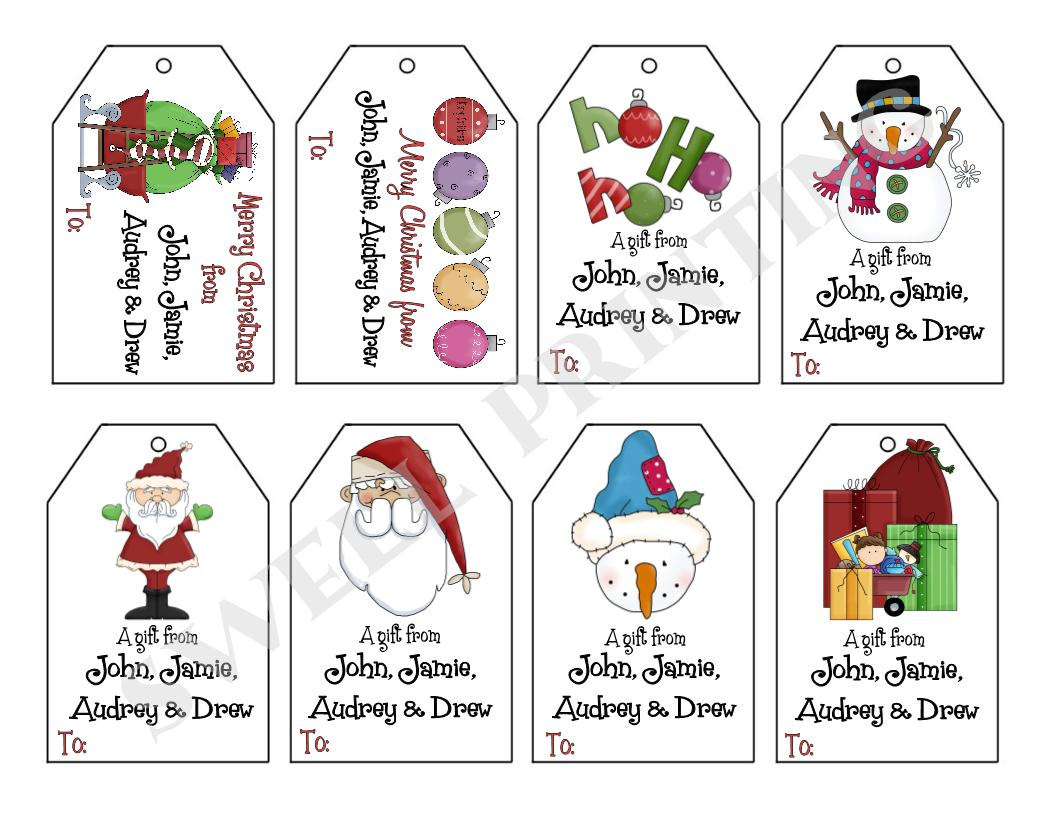 8 Images of Free Printable Gift Tags Personalized