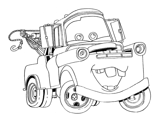5 Images of Printable Coloring Pages Mater
