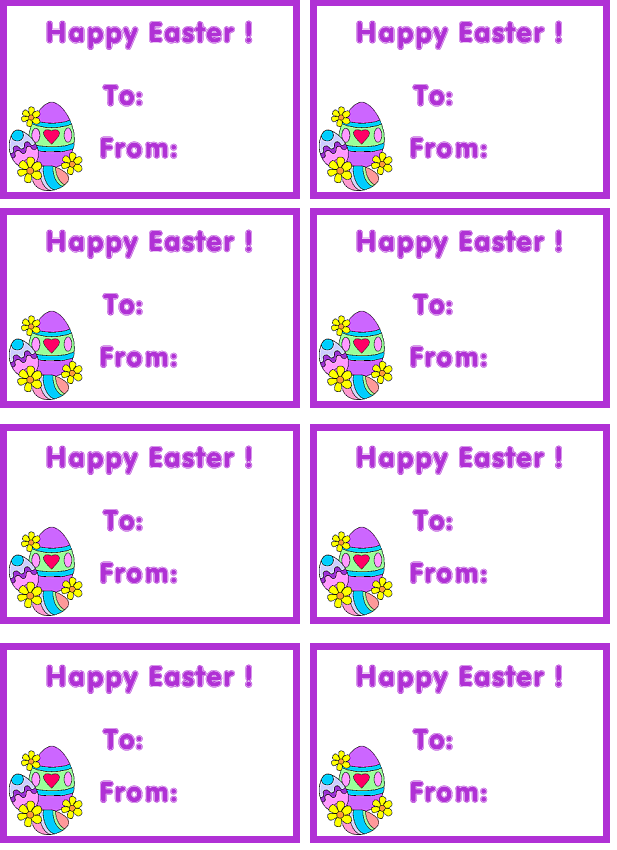 6 Images of Create Free Printable Easter Name Tag