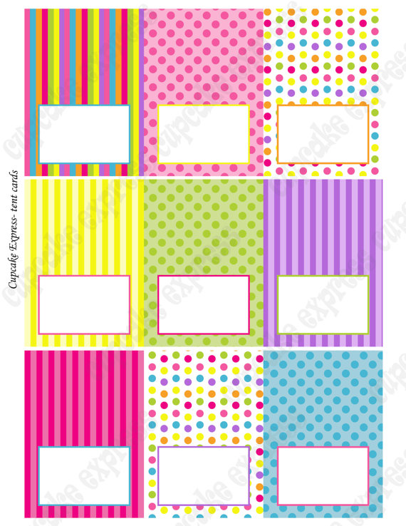 5 best images of free printable candyland templates for Free tent card template