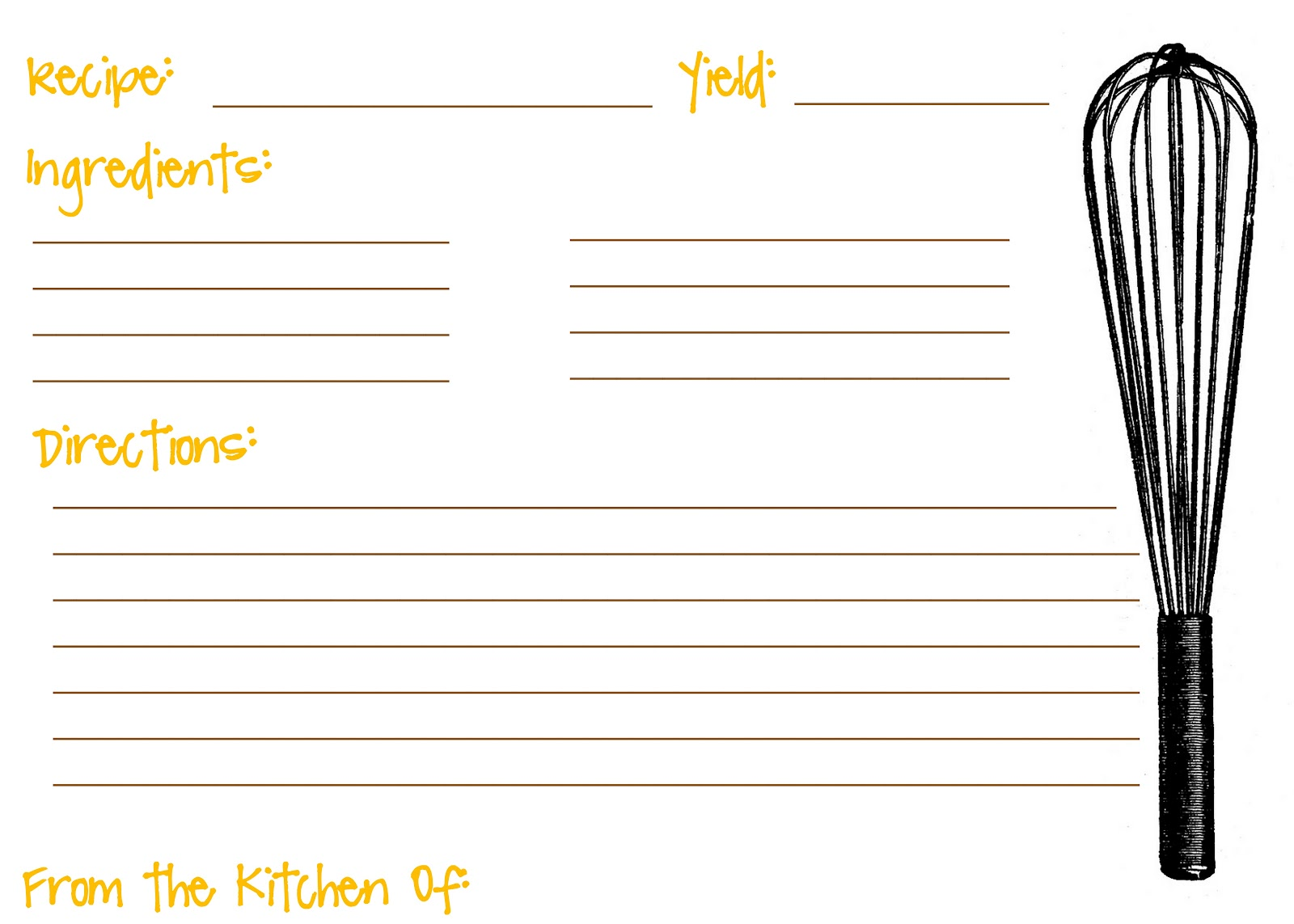 12 Best Images of Printable Recipe Cards With Lines - Free ...