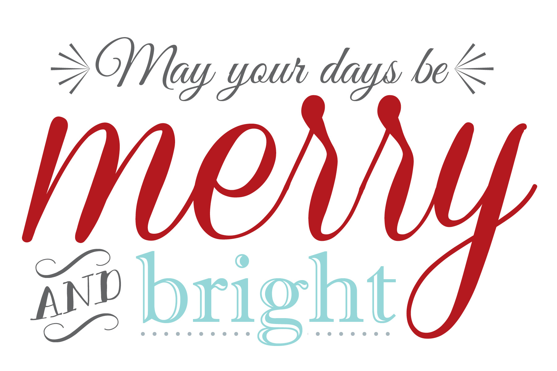 5 Images of Free Printable Merry Christmas Words
