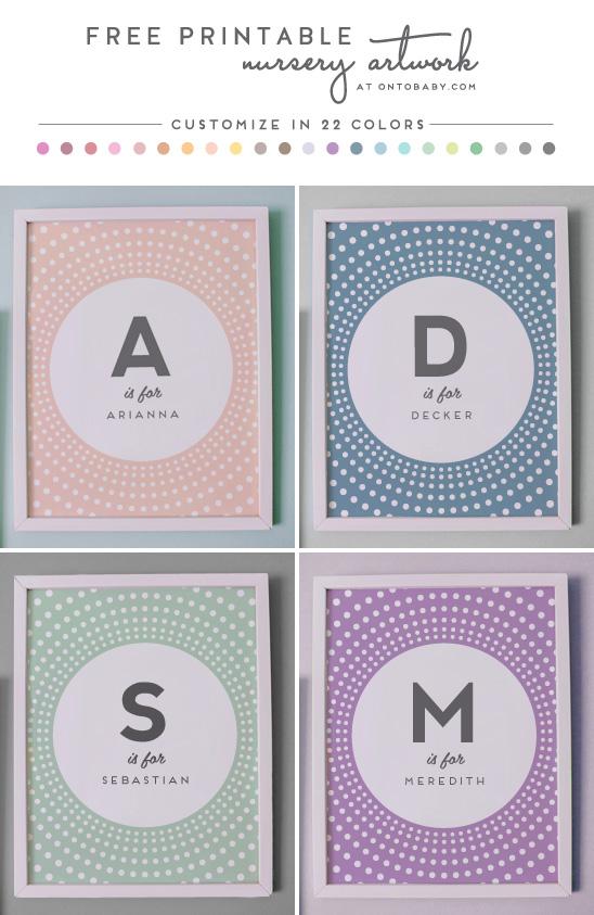 Free Printable Nursery Artwork