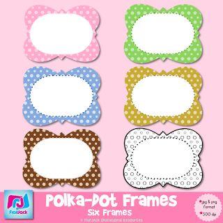 6 Images of Printable Polka Dot Frames