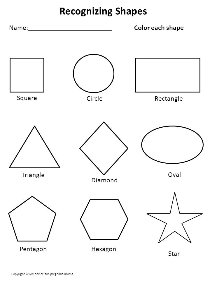 6 Images of Free Printable Shapes For Preschool