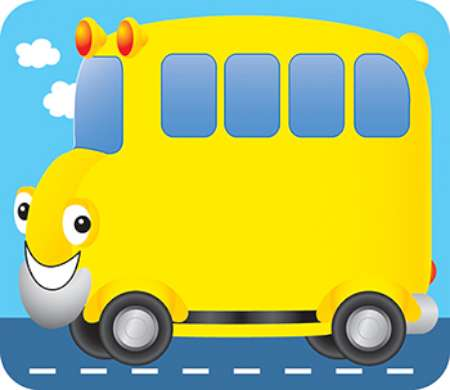 6 Images of School Bus Name Tags Printable
