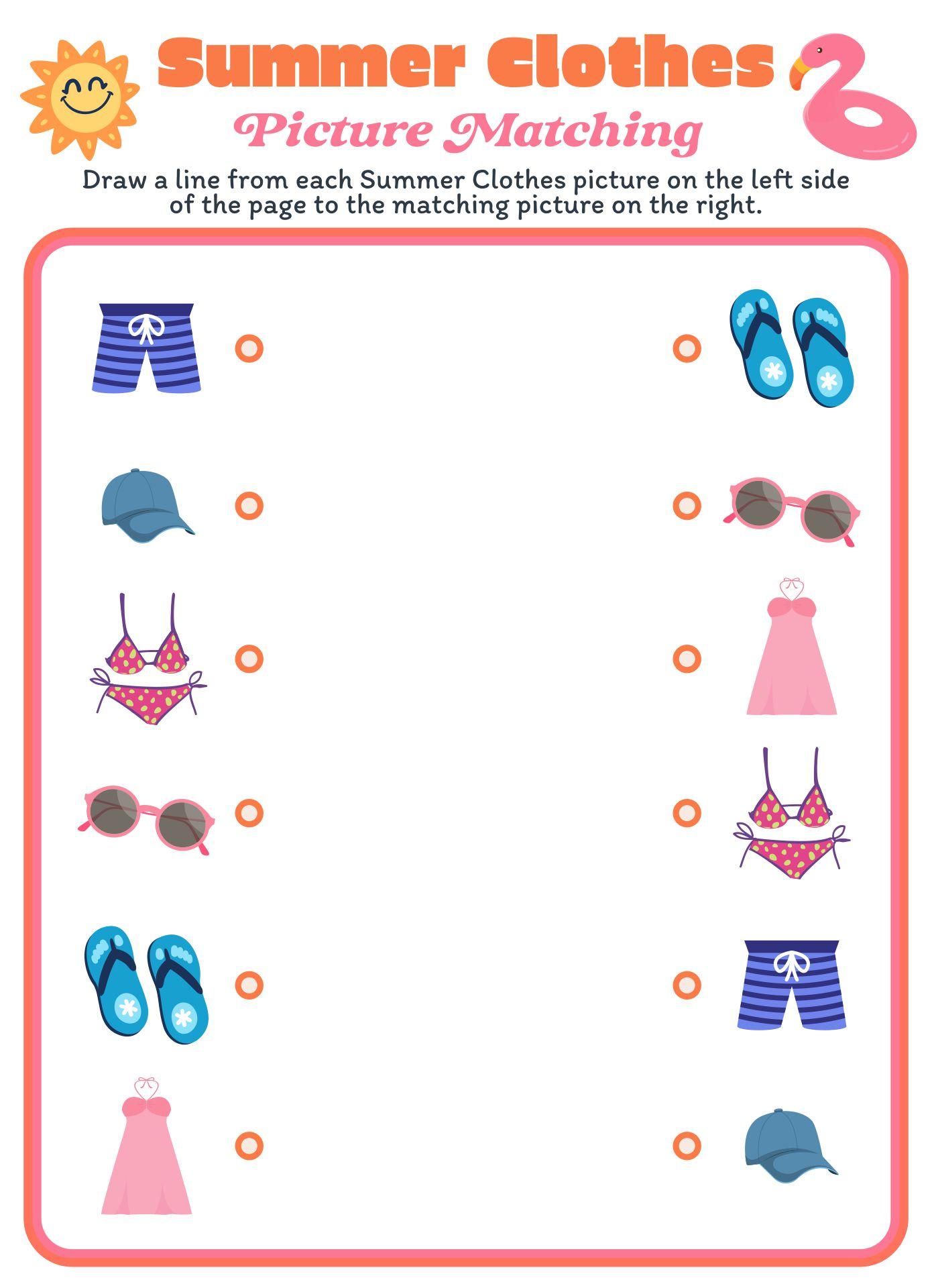 Common Worksheets » Summer Worksheet - Preschool and Kindergarten ...