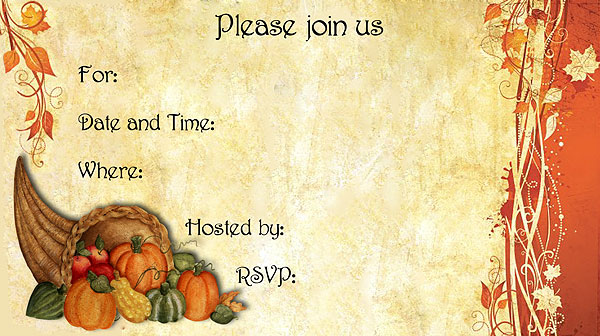 9 best images of free printable thanksgiving invitations free printable thanksgiving potluck for Thanksgiving invitation templates free word