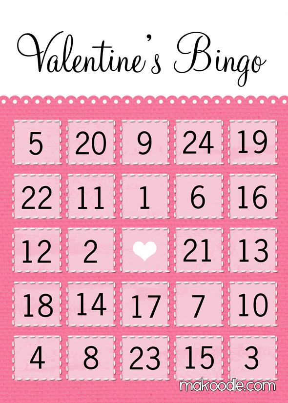 8 Images of Printable Valentine Bingo Cards