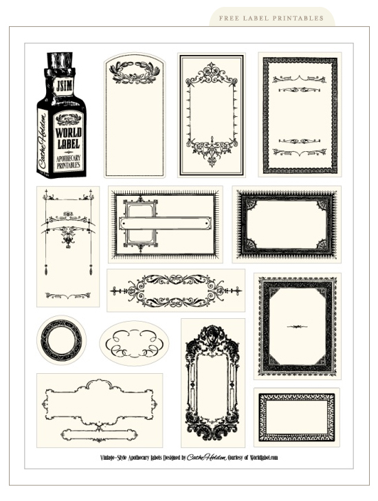 This is an image of Free Printable Apothecary Labels throughout antique