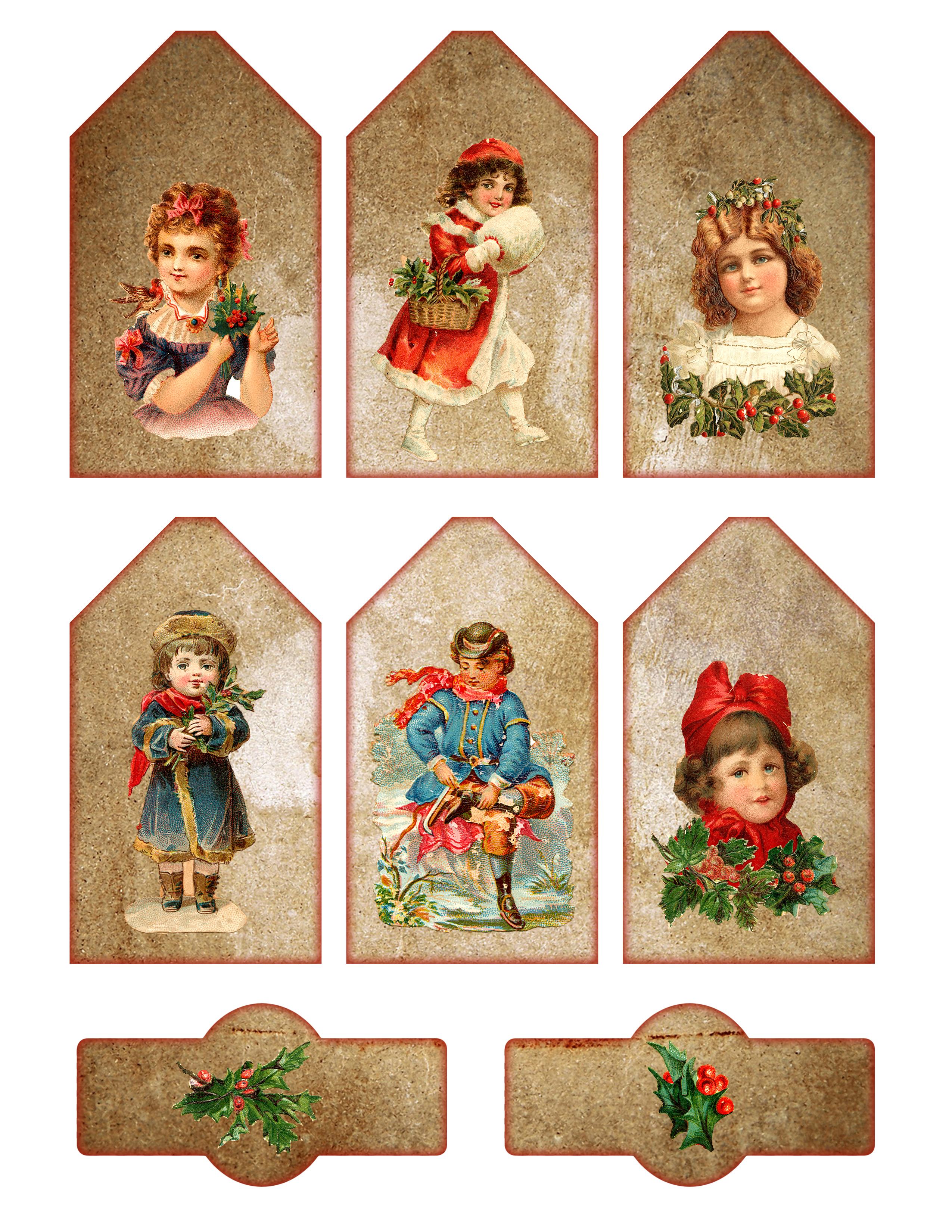 Printable Vintage Christmas Labels