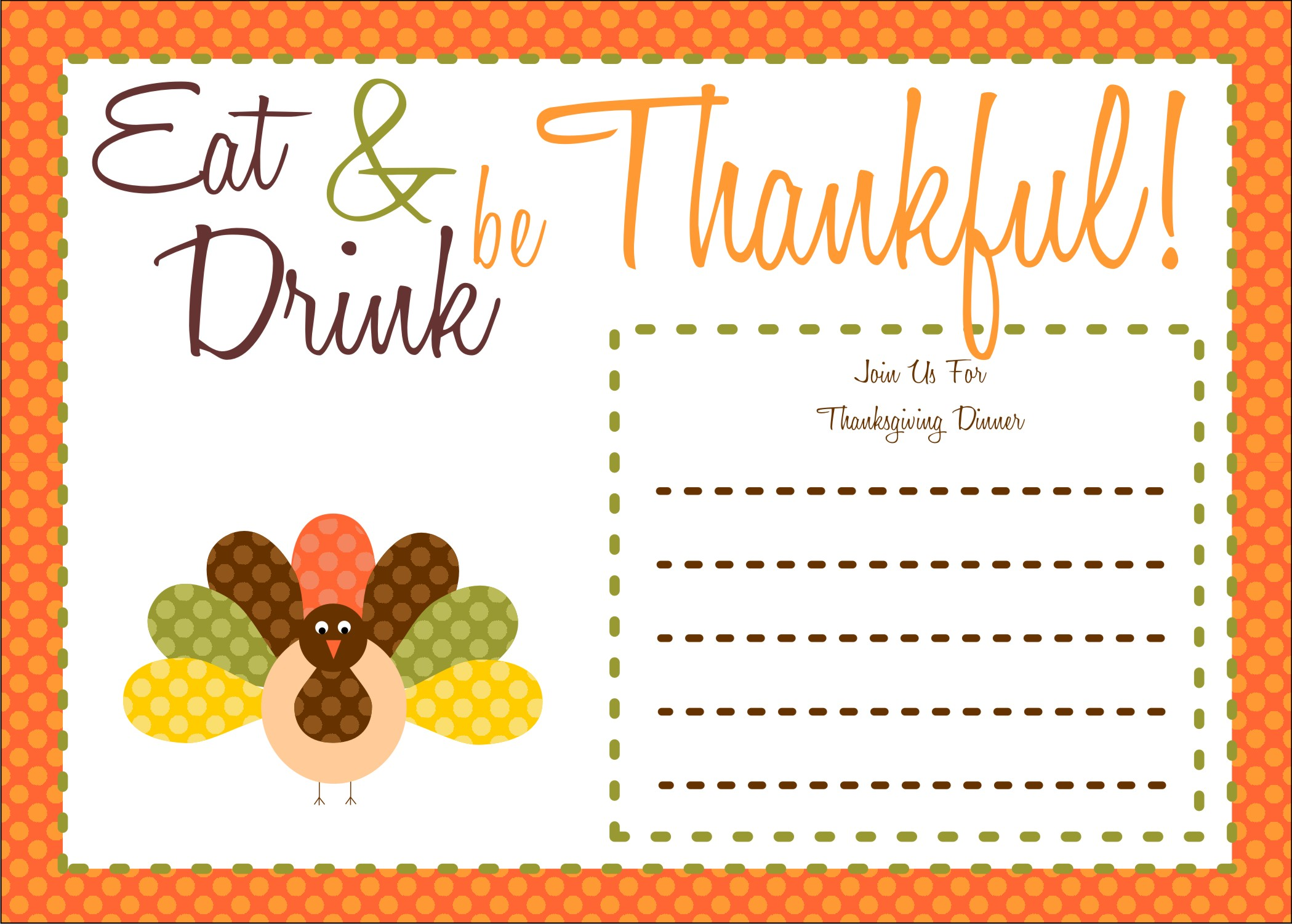 Free Thanksgiving Invitation Templates – Dinner Invitation Templates Free